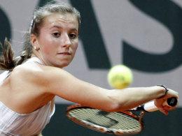 Chancenlos in ihrem ersten WTA-Halbfinale: Annika Beck.