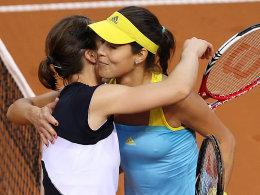 Andrea Petkovic (li.) musste in Stuttgart am Ende Ana Ivanovic (re.) gratulieren.