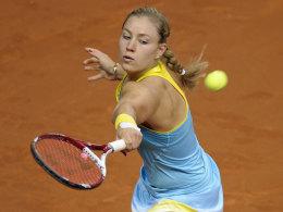 Angelique Kerber drang im Eiltempo is Stuttgarter Viertelfinale vor.