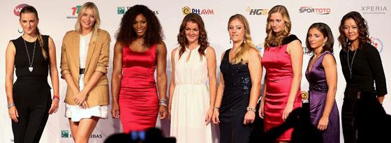 Die besten acht Tennis-Damen 2012 in Istanbul