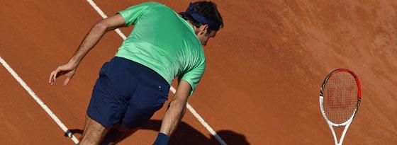 Bild mit Seltenheitswert: Roger Federer ist sichtlich angefressen.