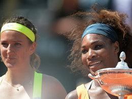 Serena Williams bezwang Viktoria Azarenka (li.)