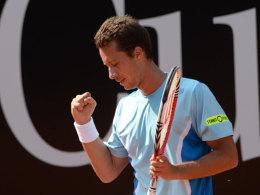 Philipp Kohlschreiber in Stuttgart während seines Matchs gegen Victor Hanescu