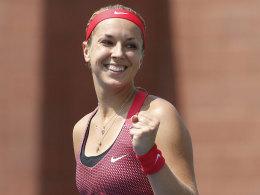 Sabine Lisicki am Donnerstag bei den US Open