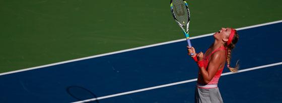 Freude nach dem Erfolg über Flavia Pennetta: Victoria Azarenka steht im Finale.