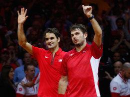 Schweizer Doppel sorgt im Davis-Cup f�r das 2:1