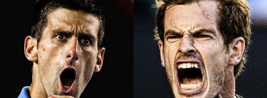 Novak Djokovic und Andy Murray