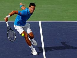 Dreisatzsieg gegen Roger Federer: Novak Djokovic triumphierte in Indian Wells.