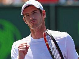 Murray reicht jeweils ein Break - Finale gegen Djokovic!