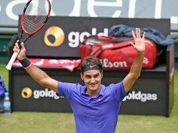 Nr. 8 für Federer - Kerber kriegt die Kurve und siegt