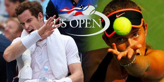 Andy Murray und Jelena Ostapenko (re.)