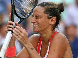 Fassungslos: Serena-Bezwingerin Roberta Vinci.