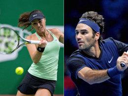 Was f�r ein Mix! Federer und Hingis in Rio vereint