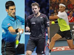 Zogen alle drei in die nächste Runde ein: Novak Djokovic, Stanislas Wawrinka und Rafael Nadal (v.li.).
