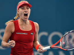 Angelique Kerber jubelt in Brisbane