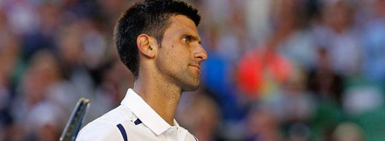 Ungewohntes Bild: Novak Djokovic ist unzufrieden.