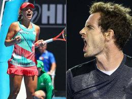 Viertelfinale erreicht: Andy Murray und Angelique Kerber.