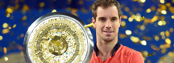 Montpellier-Sieger Richard Gasquet.