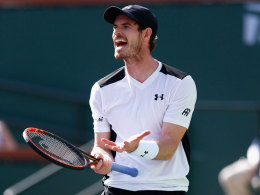 Murray in Indian Wells wieder b�se �berrascht