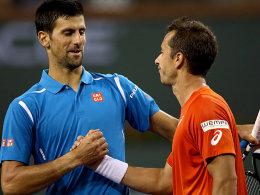 Novak Djokovic und Philipp Kohlschreiber (re.)