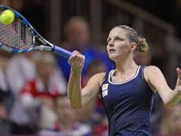 Entscheidender Punkt gegen die Schweiz: Die Tschechin Karolina Pliskova.