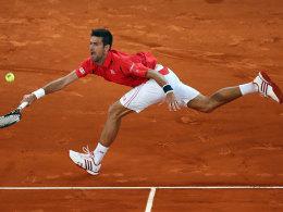 Nadal mit M�he - Djokovic zieht weiter
