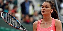 Sichtlich angefressen: Agnieszka Radwandska war nach ihrem Aus bei den French Open bedient.