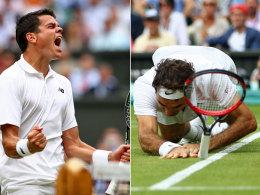 Raonic entrei�t Federer das Finale