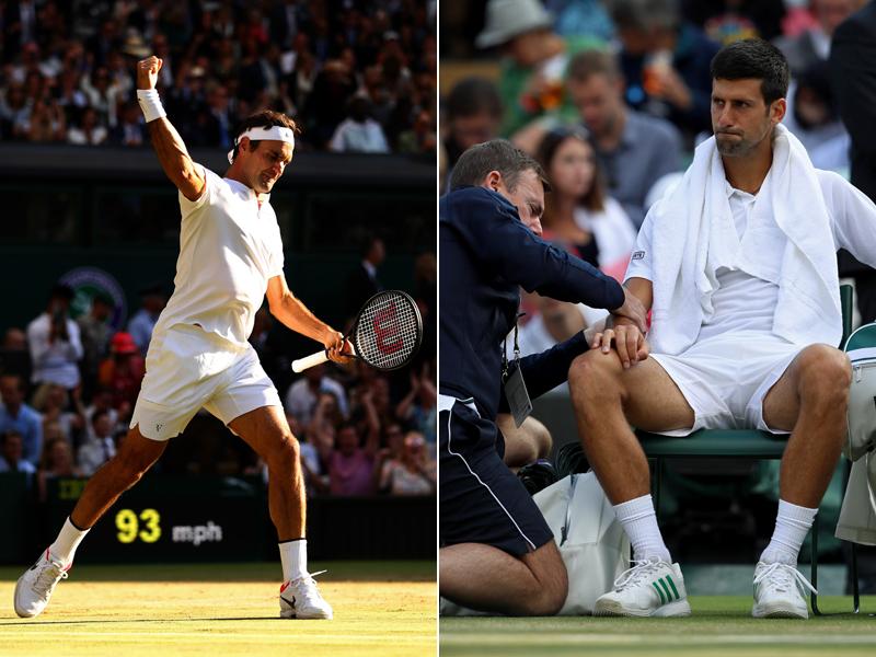 Wimbledon : Federer ohne Satzverlust im Halbfinale - Djokovic gibt auf