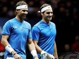 Federer und Nadal bauen Europas Führung aus