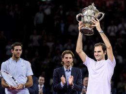 Heim-Sieg! Federer gewinnt Krimi-Finale in Basel