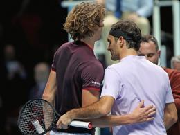 Federer lässt Zverev im dritten Satz abblitzen