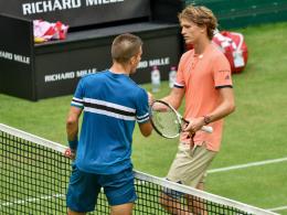 DTB-Trio und Federer weiter - beide Zverevs raus