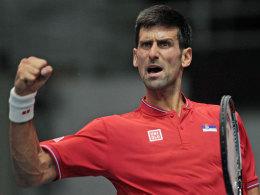 Serbien mit Djokovic auf Kurs, Argentinien in Not