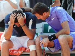Del Potro tröstet weinenden Gegner