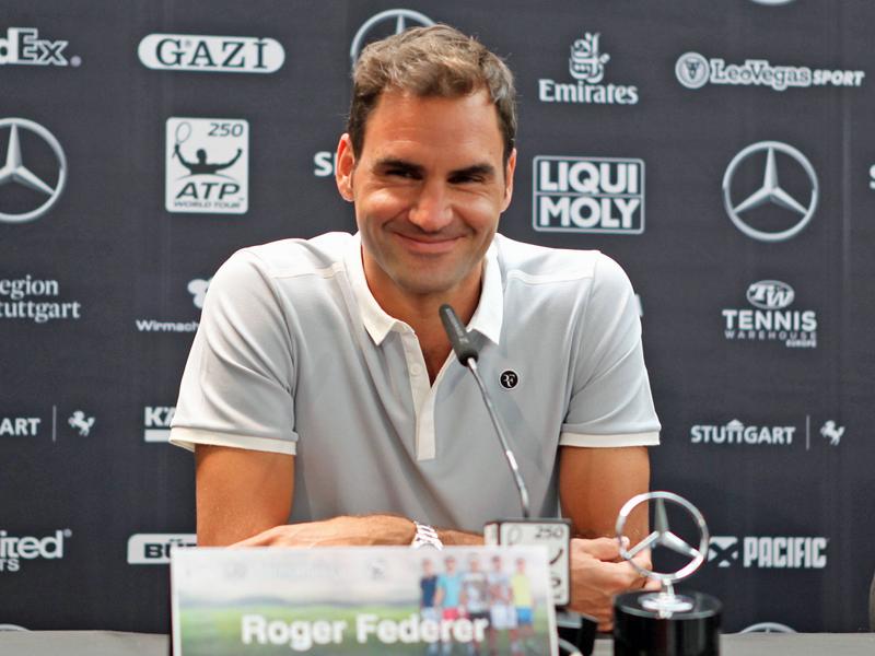 Haas erarbeitet sich in Stuttgart Duell mit Federer class=