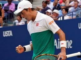 Japanischer Jubel: Auch Nishikori im Halbfinale