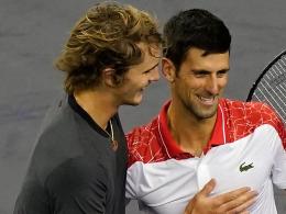 Zverev landet in der Djokovic-Gruppe