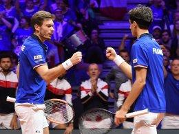 Sieg im Doppel: Frankreich verkürzt gegen Kroatien