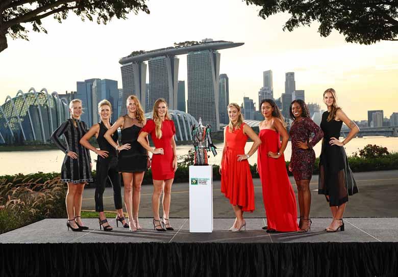 Die WTA-Finals: Stylen, Selfies, Fußballtraining