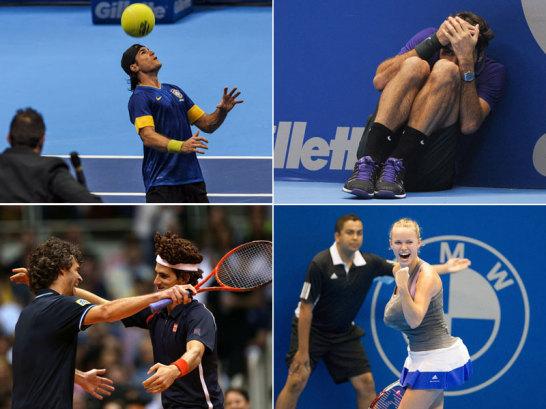 Topstars als Entertainer: Im November und Dezember, wenn die Tennis-Welt eine kleine Pause einlegt, bricht die Zeit der Showk�mpfe an.