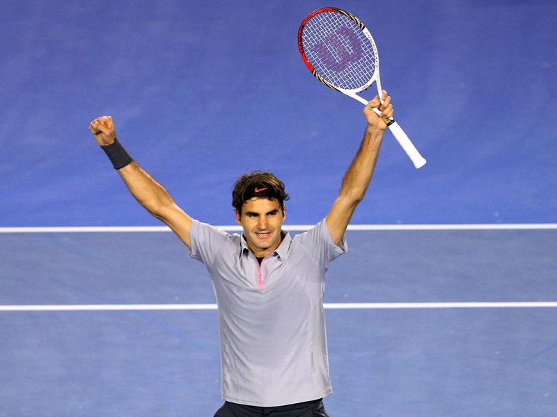Roger Federer lässt sich feiern.