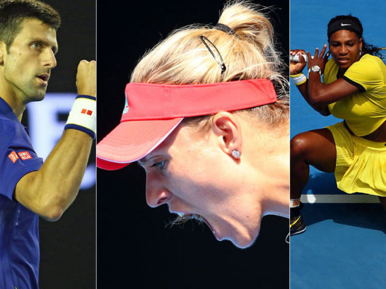 Novak Djokovic, Angelique Kerber, Serena Willliams
