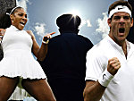 Serena Williams und Juan Martin del Potro (re.)