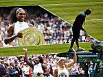 Serena Williams bei ihrem siebten Wimbledon-Sieg