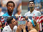 Gael Monfils, Novak Djokovic, Mate Pavic und Laura Siegemund.