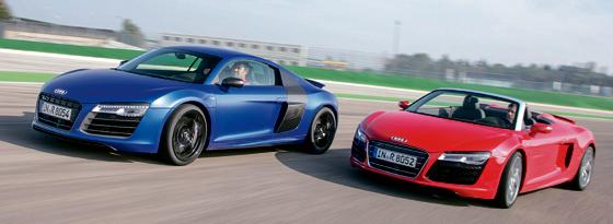Audi R8 Coupe und Spyder