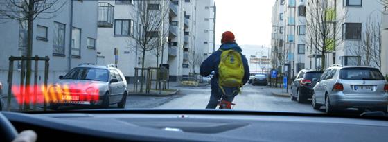 Volvo-Notbremsassistent mit Radfahrererkennung