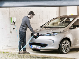 Renault Zoe laden Garage