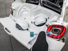 Smart Fourjoy Kofferraum mit Helmen